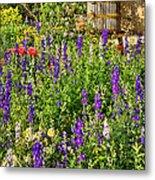 Becker Vineyards' Flower Garden Metal Print