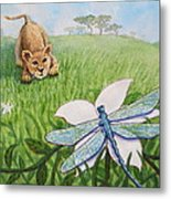 Beckoning The Little Predator To Come Closer Metal Print