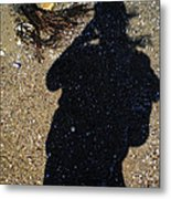 Becoming One With The Beach Stones Metal Print