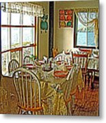 Bed And Breakfast Over The Water At Fishing Point In Saint Anthony-nl Metal Print
