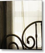 Bed By The Window Metal Print