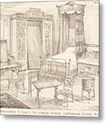 Bedchamber Furniture In The Japanese Metal Print