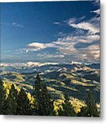 Panoramic View Of The Foothills Metal Print