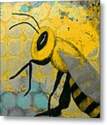 Bee Aware Metal Print