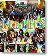 Bee Gees History Montage Metal Print