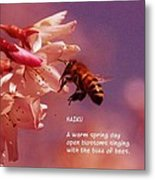 Bee Haiku Metal Print
