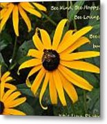 Bee Yourself Metal Print