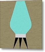 Beehive Lamp Turquoise Metal Print
