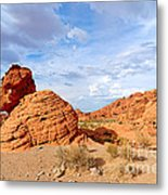 Beehive Rock Formation Under A Stormy Sky In Nevada Valley Of Fire State Park Metal Print