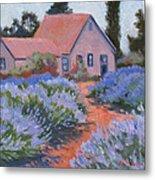 Beekman Lavender Field Metal Print