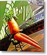 Beer Belly Carrot On A Hot Day Metal Print by Sarah Loft