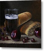 Beer Bread And Fruit Metal Print by Timothy Jones