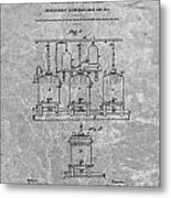 Beer Brewery Patent Charcoal Metal Print