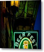 Beer Fest And Lamp Metal Print