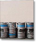 Beer Kegs Metal Print