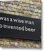 Beer Sign Metal Print
