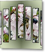Bees And Blossoms Metal Print