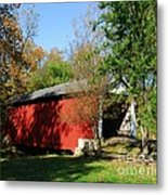 Beeson Covered Bridge 1 Metal Print by Mel Steinhauer