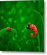 Beetle Chameleon Metal Print by Gianfranco Weiss