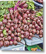 Beets At The Farmers Market Metal Print