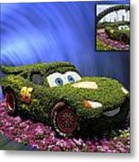 Before And After Sample Art 29 Floral Lightning Mcqueen Metal Print by Thomas Woolworth