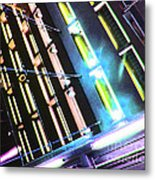 Hot Neon Nights Metal Print