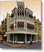 Before The Gates Open Magic Kingdom Main Street. Metal Print