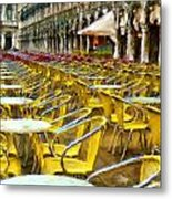Before The Rush Metal Print by Cary Shapiro