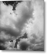 Before The Storm Clouds Stratocumulus 5 Bw  Metal Print