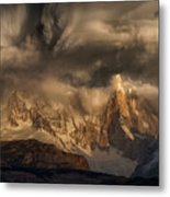 Before The Storm Covers The Mountains Spikes Metal Print