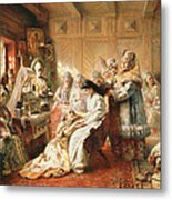 Before The Wedding, 1890 Oil On Canvas Metal Print