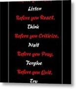 Before You  Metal Print by Barbara Griffin