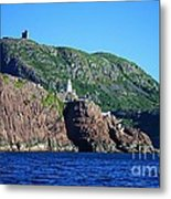 Behind Fort Amherst Rock By Barbara Griffin Metal Print