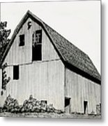 Behind The Barn Metal Print