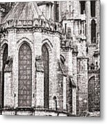 Behind The Cathedral Metal Print