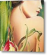 Behind The Curtain Of Colours -the Tulip Metal Print
