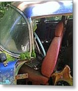 Behind The Driver's Seat Metal Print