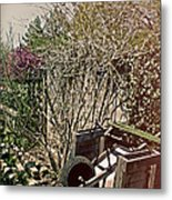 Behind The Garden Metal Print by Tom Gari Gallery-Three-Photography