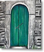 Behind The Green Door Metal Print