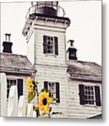 Behind The Lighthouse  Metal Print