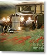 Behind The Wheel Metal Print by Edmund Nagele