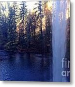 Behind Water Fall  Metal Print