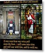 Behold I Stand At The Door And Knock Composite Metal Print