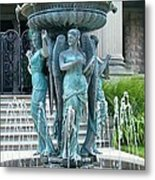 Beiger Mansion Fountain  Mishawaka Indiana Metal Print