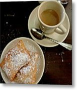 New Orleans Beignets And Coffee Au Lait  Metal Print