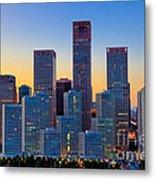 Beijing Central Business District Metal Print