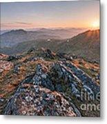 Sunset From Beinn Ghlas - Scotland Metal Print