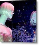 Bejeweled Blondes Metal Print
