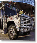 Bejeweled Bus Metal Print