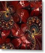 Bejewelled Crimson Metal Print